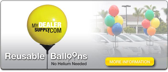 Printed Reusable Balloon Supplies For Car Dealers