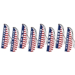 Patriotic Message Feather Dancer Flags