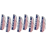 Patriotic Feather Dancer Flags