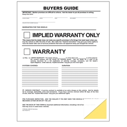 As Is - No Warranty<br>Buyers Guide<br>File Copy