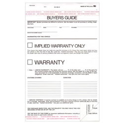 Implied Warranty Only Buyers Guide