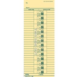 Time Clock Cards<br>Form#TC-292 2-sided
