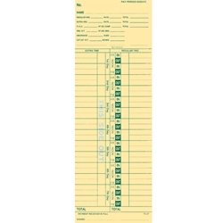 Time Clock Cards<br>Form#TC-57