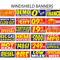 Windshield Banners<br>Superior Quality