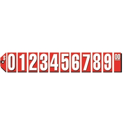 Extra Large Red Tag Numbers Starter Kit