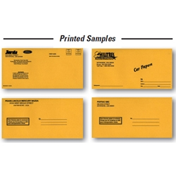 License Plate Envelope - Imprinted