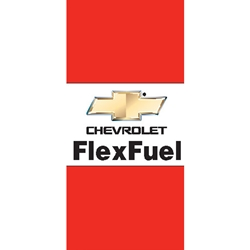 Chevy Flex Fuel Flags (Horizontal, double sided)