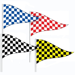 Checkered Antenna Pennants (Economy)