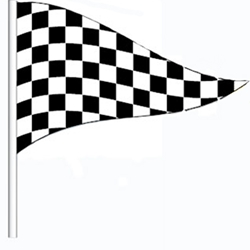 Checkered Antenna Pennants (Heavy Duty)