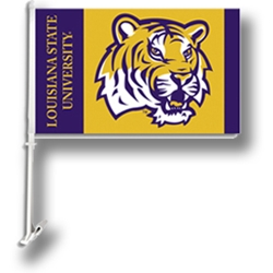 Louisiana State Tigers 2 Sided Car Flag