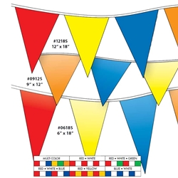 Economy 4-mil V-Shaped Poly Pennants