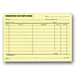 Parts Requisition Form 1