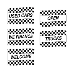 Race Style Message Flags