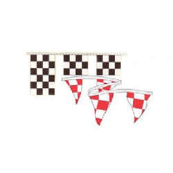3' x 3' Checkered Pennant Strings