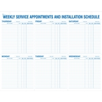 Weekly Service Appointments and Installation Schedule