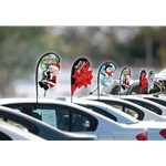 3D Mini Holiday Teardrop Flags