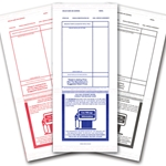 Addendum Stickers- 3 strip center adhesive