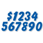 Blue & White Die Cut Numbers