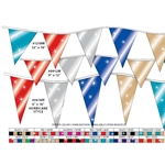 V-Shaped Metallic Pennants