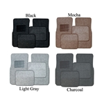 Carpet vehicle floor mats.