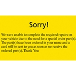 Customer Service Card Yellow Fluorescent