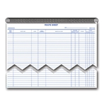 Daily Service Route Sheets-Spiral Bound