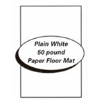 Plain whilte paper vehicle floor mat.