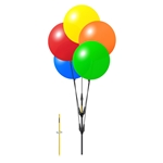 Reusable balloon cluster kit