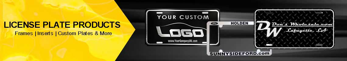 License Plate Products Supplies For Car Dealers